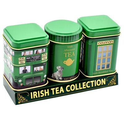 Green Irish Model Design Set Of 3 Tea Tins