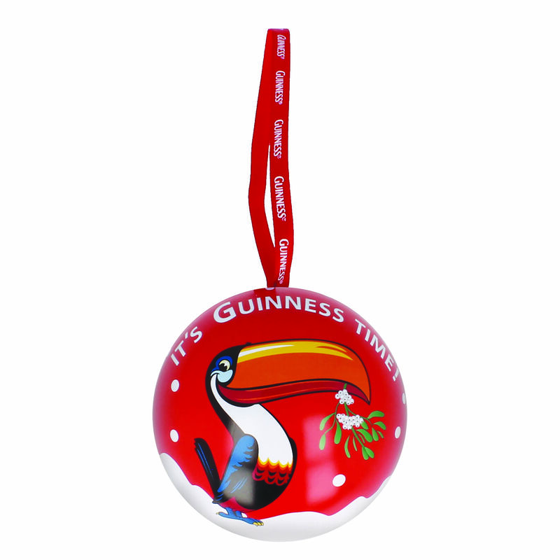 Official Guinness Toucan Christmas Bauble With Luxury Fudge