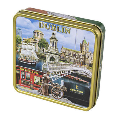 Luxury Dairy Cream Irish Fudge With Dublin Montage Designed Tin  100G