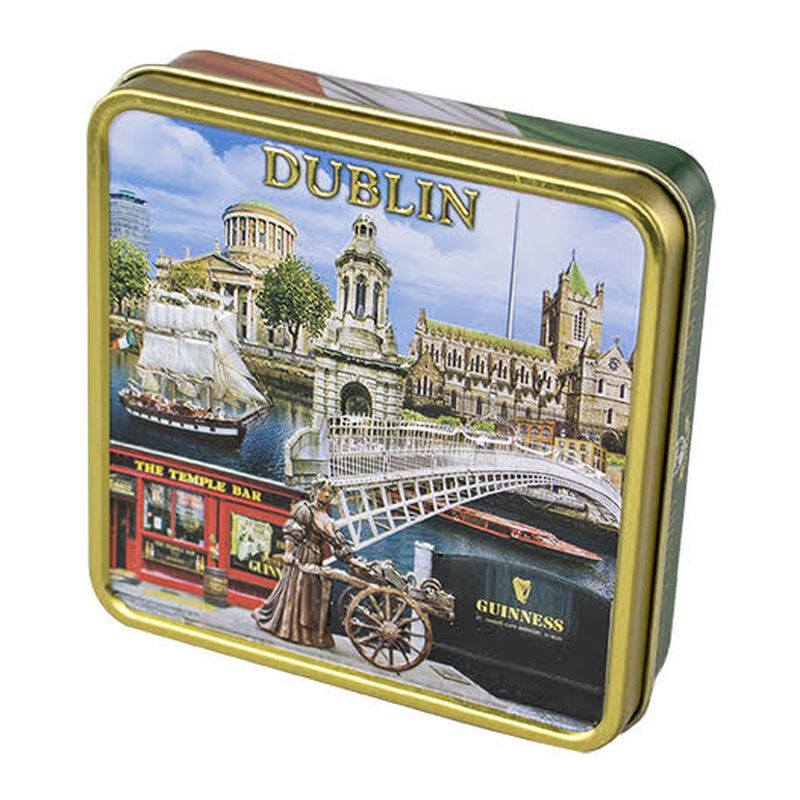 Luxury Dairy Cream Irish Fudge With Dublin Montage Designed Tin  100G