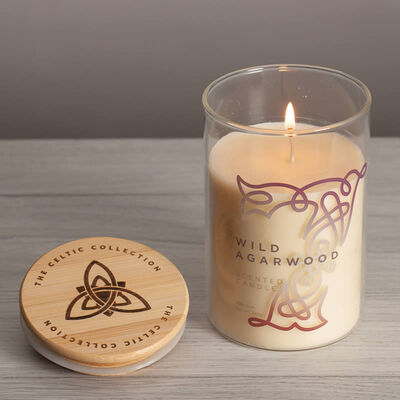Celtic Collection Wild Agarwood Scented Candle In A Glass Container