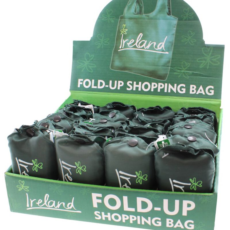 Green Fold Up Shopping Bag With Ireland Design