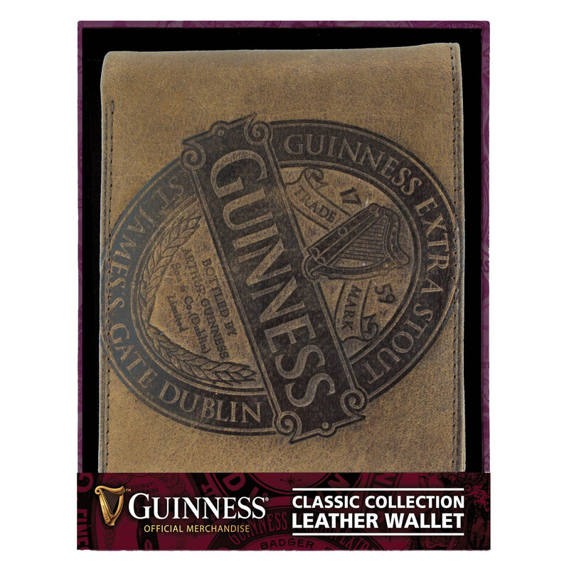 Guinness Pint Glass Christmas Gift Set For Him With Leather Wallet