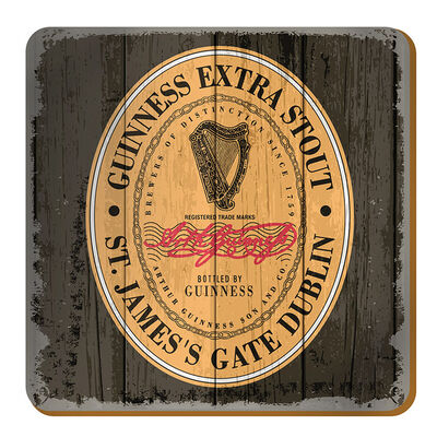 Nostalgic Guinness Coaster With The Heritage Extra Stout Label