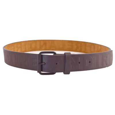 McCabe Collection Ireland Embossed Leather Belt  Brown Colour
