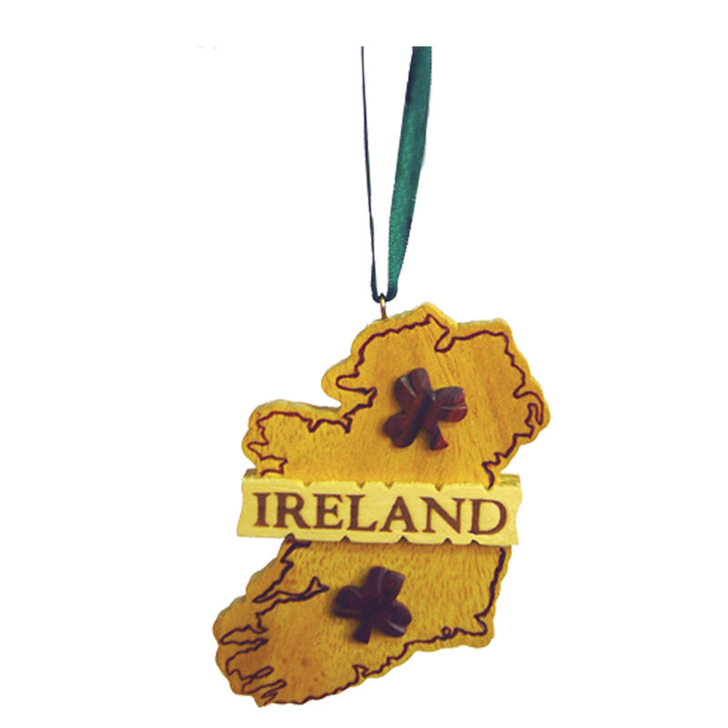 Irish Wooden Map Hanging Decoration