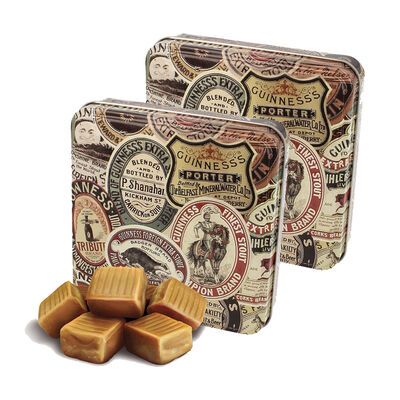 CLEARANCE - Official Guinness Retro Fudge Tin With Guinness Archive Label Design, 100G  (Two Pack)