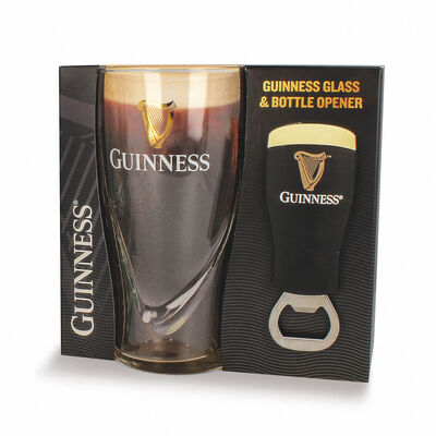 Official Guinness Gift Set With Pint Glass & Bottle Opener