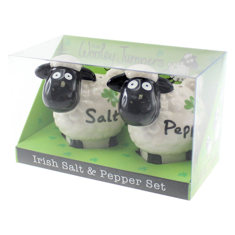 Wooley Jumpers Sheep Salt And Pepper Shakers