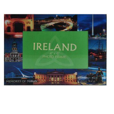 Glass Photo Frame Designed With Famous Landmark Images Of Dublin