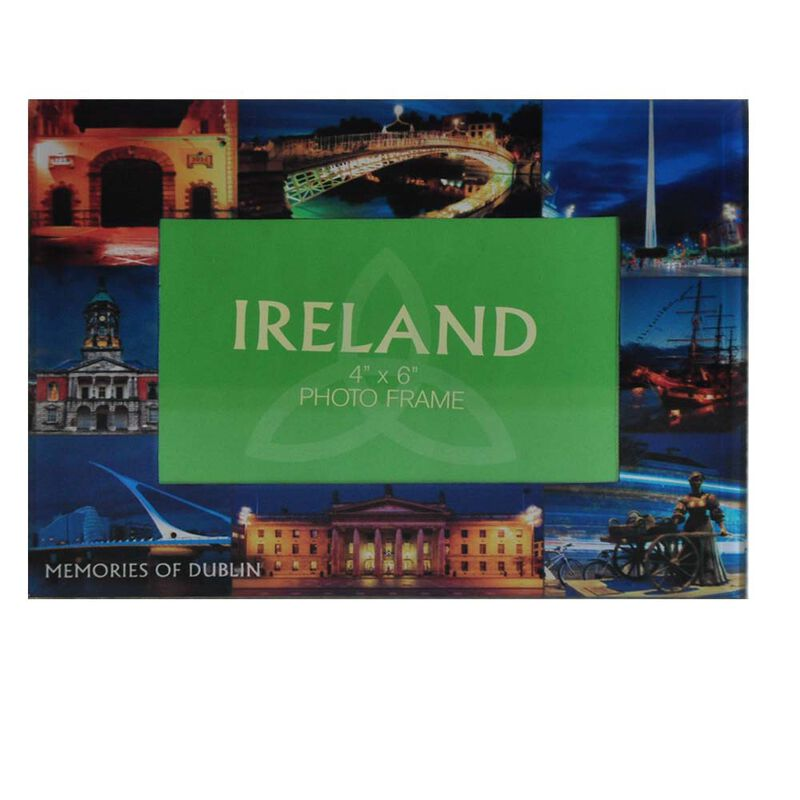 Glass Photo Frame Designed With Famous Landmark Images Of Dublin