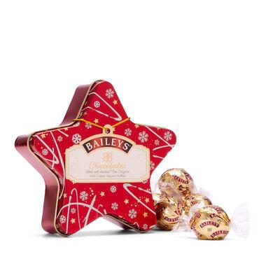 Baileys Christmas Star Irish Cream Milk Chocolate Truffles In A Tin, 56G