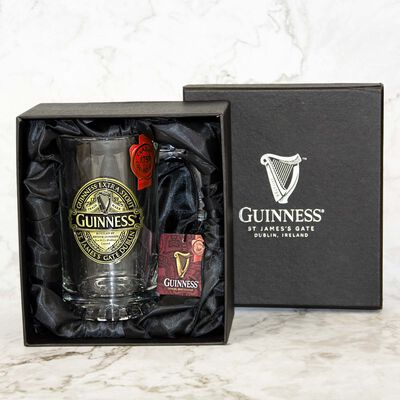 Official Guinness Bronze Ruby Red Pewter Tankard With Engraving and Gift Box