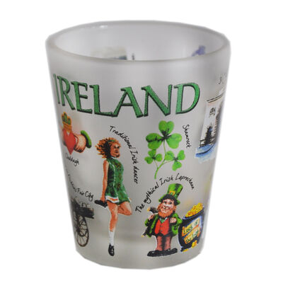 Loose Shot Glass With Popular Irish Icons Image
