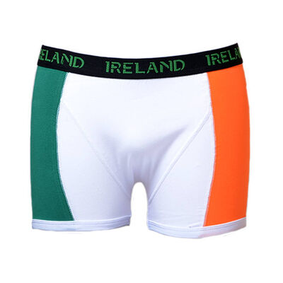 Boxer Shorts With Tri-Colour Print And Black Elastic Waist