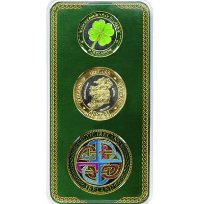 Irish Designed 3 Pack Of Tokens – Clover  Harp and Irish Blessing Designed
