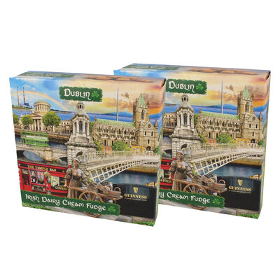 CLEARANCE - Dublin Famous Landmarks Montage Irish Dairy Cream Fudge, 170G (Two Pack)