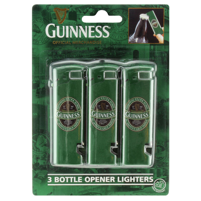 Bottle Opener Lighters (3 Pack) - Guinness Ireland Collection
