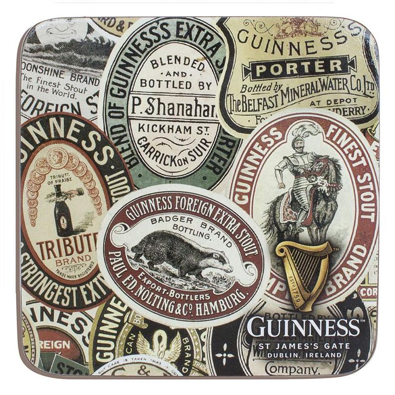 Guinness Label  Montage Designed Coaster