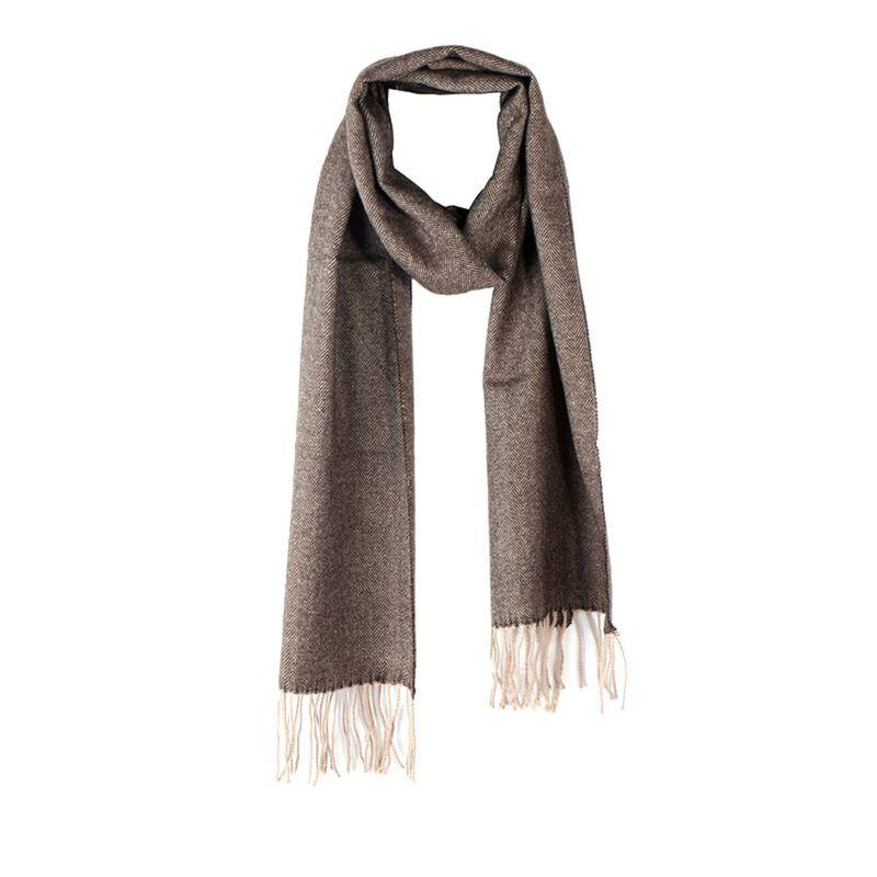 Celtic Ore Tweed Irish Scarf Herringbone Design  Brown Colour