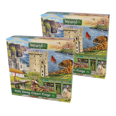 CLEARANCE- Ireland Famous Landmarks Montage Irish Dairy Cream Fudge, 170G (Two Pack)