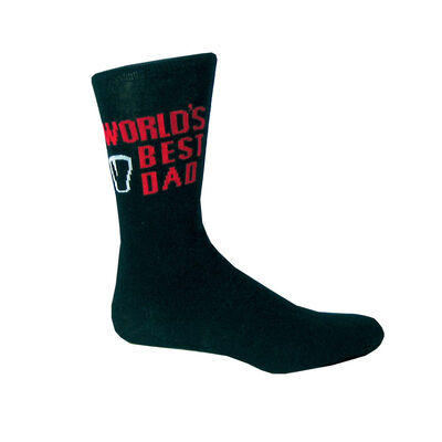 Guinness Socks with Best Dad Text with Red Trim  Black Colour