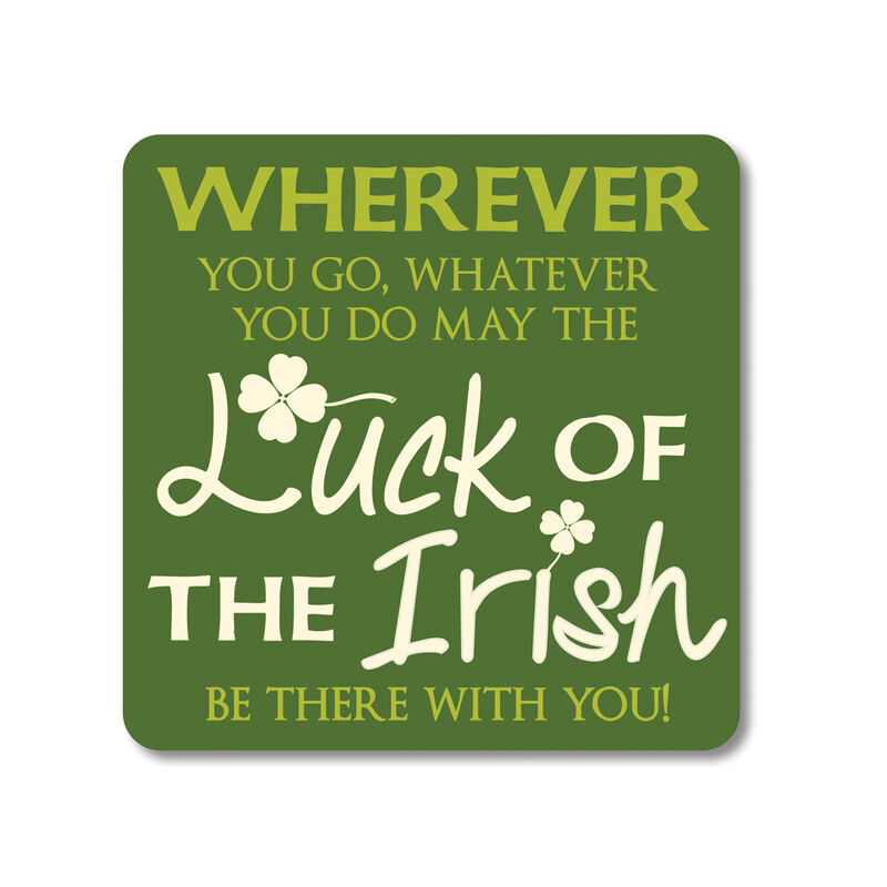 Irish Coaster With Luck Of The Irish Design