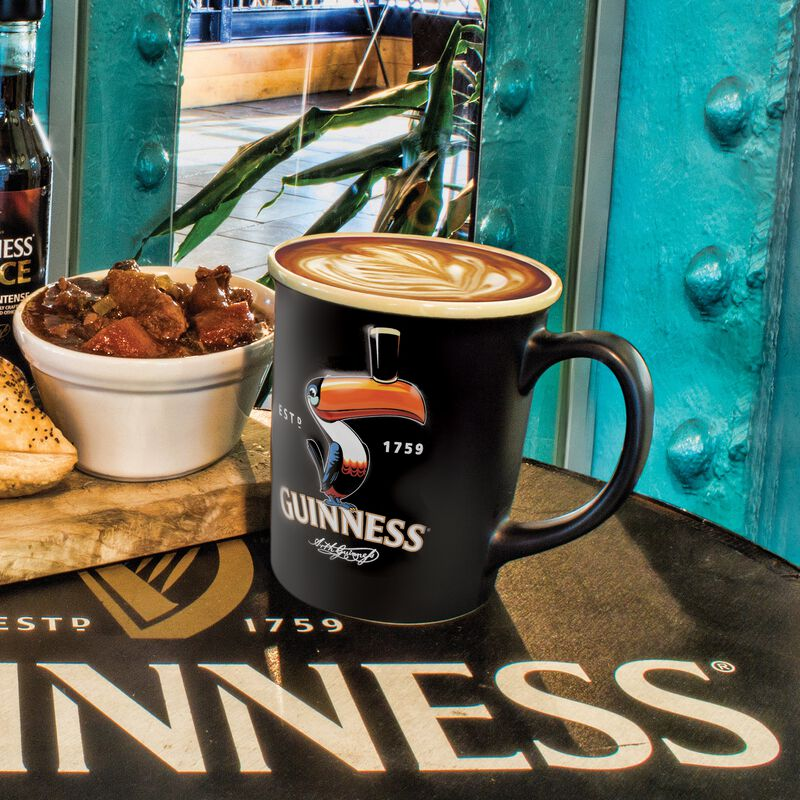Guinness Large Toucan Embossed Mug - Black (Optional Gift Box)