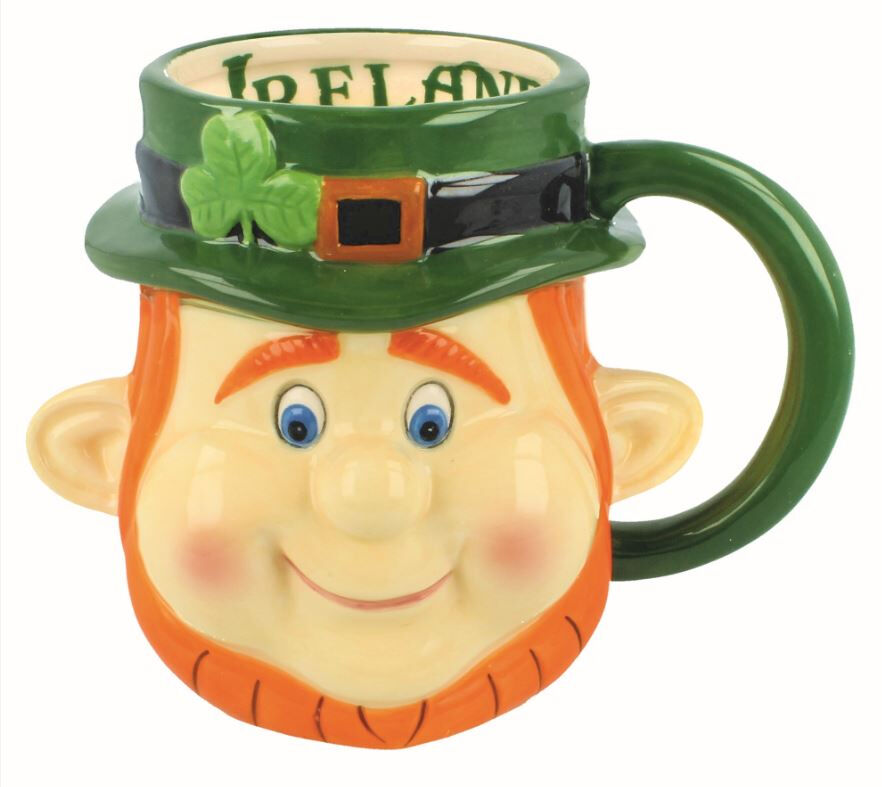Murphy The Leprechaun Shot Glass With Irish Road Sign Design