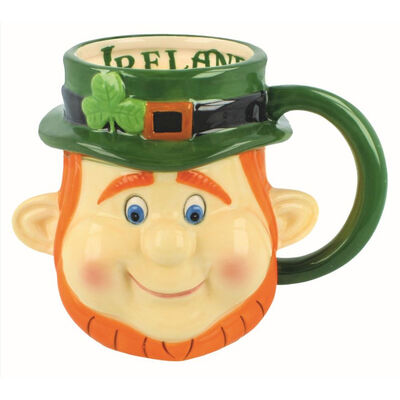 McMurfy The Leprechaun Head Mug
