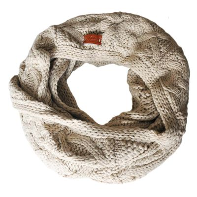 Aran Traditions Knitted Style Cable Design Snood  Oatmeal Colour