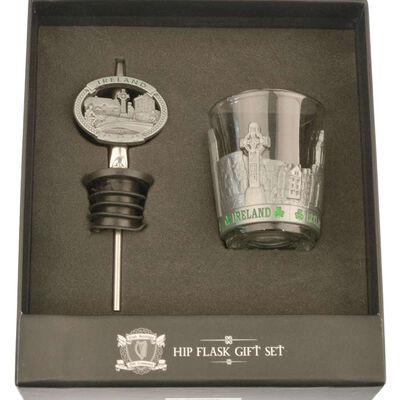 Irish Heritage Hip Flask Gift Set