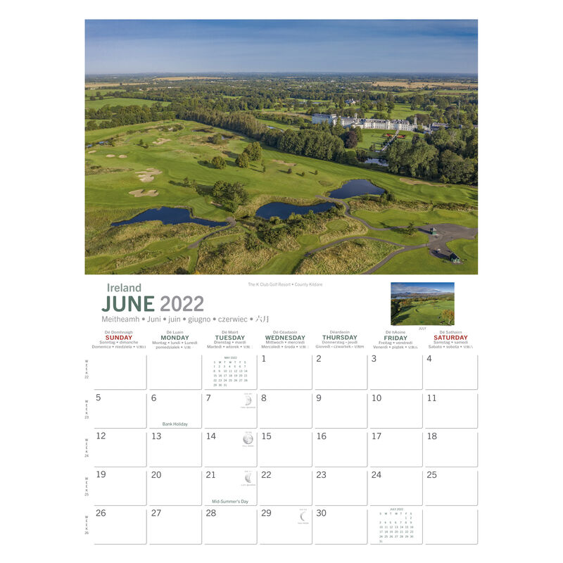 A4 Irish Golf Courses 2021 Calendar by Liam Blake