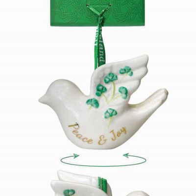 Watervale Parian China Hanging Decoration – Peace and Love Dove