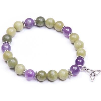 Trinity Knot Connemara Marble Charm Bracelet