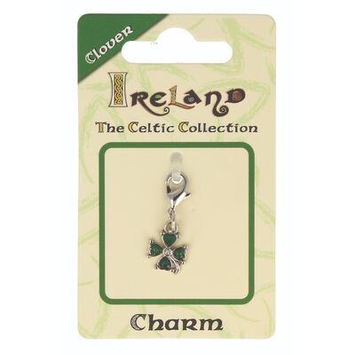 Celtic Collection Small Metal Green 4-Leaf Clover Charm