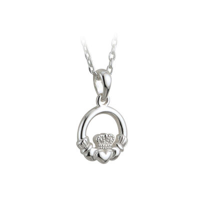 Hallmarked Sterling Silver Kid's Claddagh Pendant