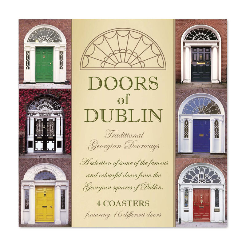 Doors of Dublin Designed Coasters - Set of Four
