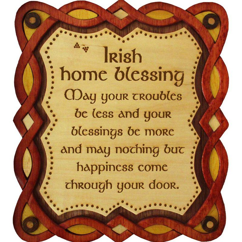 Wooden Wall Plaque With Irish Home Blessing