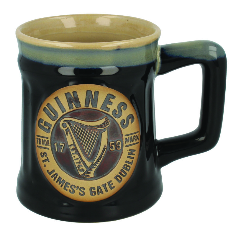 Official Guinness Pottery Beer Mug Tankard 0 5L Black