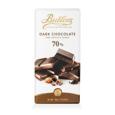Butlers Dark  Smooth and Intense 70% Dark Chocolate Bar  100G