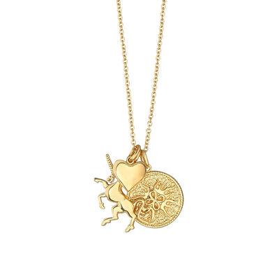 Gold Plated Amy Huberman Newbridge Silverware Unicorn Charm Necklace