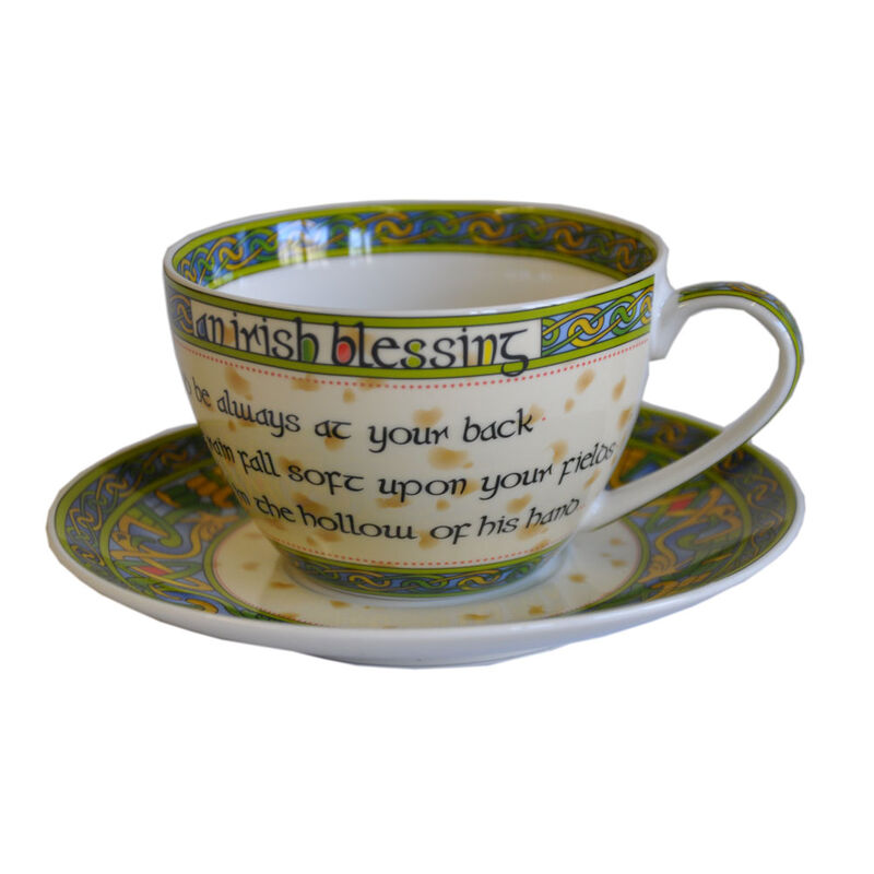 Cup And Saucer With Irish Blessing