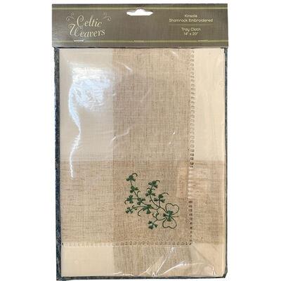 Celtic Weavers Kinsale Shamrock Embroidered Tray Cloth 14X 20