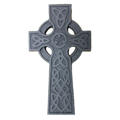 "5"" Wall Hanging Turf Decoration Celtic Cross With Trinity Knot Design"