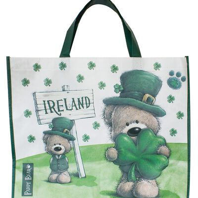 Paddy Bear Bag For Life With Shamrock Design