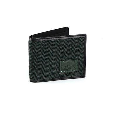 Irish Designed Green Herringbone Credit Card and Notes Wallet