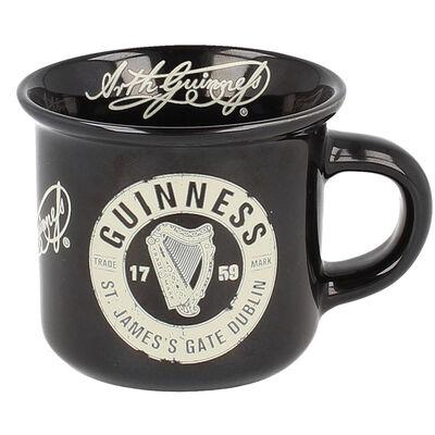 Ceramic Guinness Black Espresso Mug With St. James's Gate Label Design