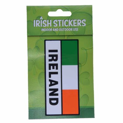 Ireland Rectangle Tri Colour Flag with Sticker