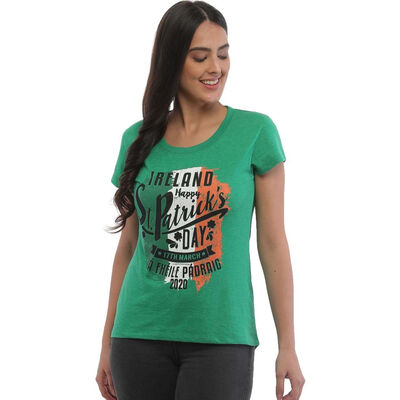 St. Patrick's Day Ladies T-Shirt with Limited Edition 'La Fheile Padraig' 2020 Print